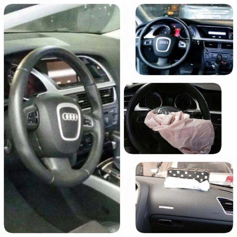 Conserto Airbag Estourado Audi A5 TFSI Ano 2012